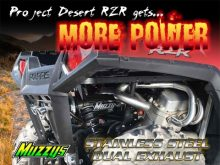 Muzzys Dual Exhaust for Polaris RZR