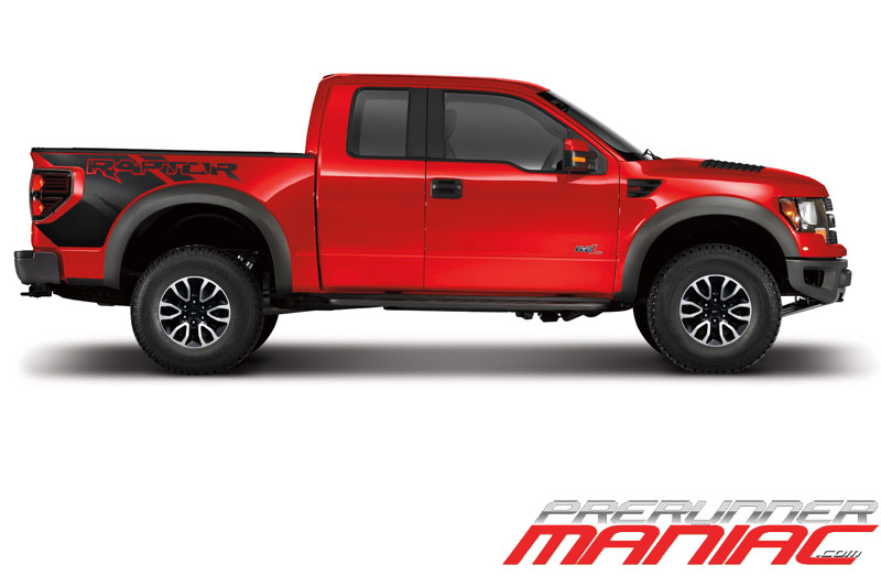 2012 F-150 SVT Raptor in Red Side View