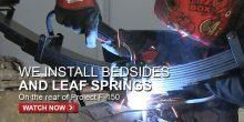 Project F-150 Prerunner Fiberglass Bedsides & Leaf Springs – FullDroopTV
